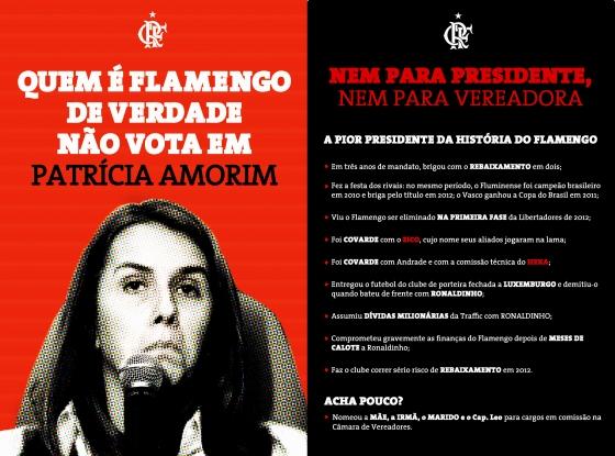 Campanha Flamengo de Verdade não vota em Patricia Amorim