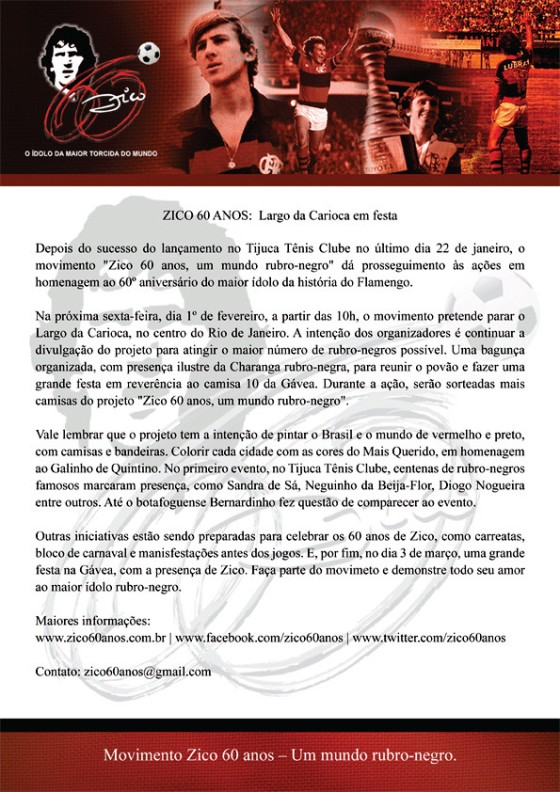 Evento Zico 60 Anos