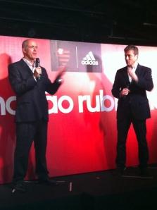 Wallim e Basualdo, presidente da Adidas